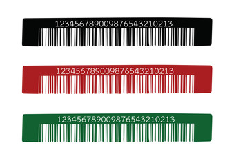 Bar code.  illustration