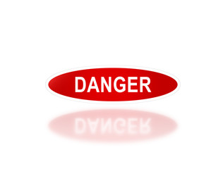 oval signage of danger