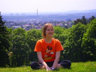 Mädchen über Wien