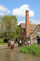 Horse riding and water mill, Lower Slaughter.