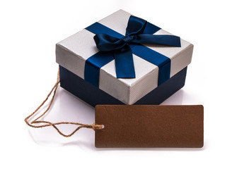 gift box with blank tag