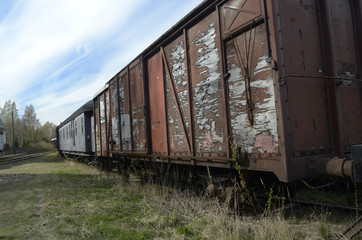 vintage freight wagons
