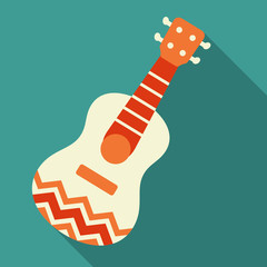 Mexican guitar vector illustration