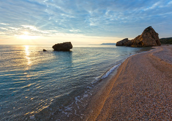 Potistika beach sunrise view (Greece)