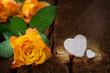 Obrazy na płótnie, fototapety, zdjęcia, fotoobrazy drukowane : Rosen und Herzen, Valentinstag