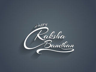 Beautiful text design of Happy Raksha bandhan