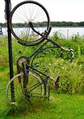 Fahrrad hochkant