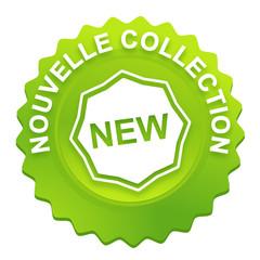 nouvelle collection sur bouton web denté vert