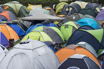 Campsite full of tents