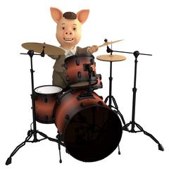 pig jazz drummer