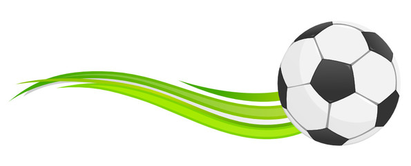 Fußball Welle grün