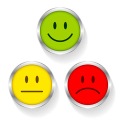 Smileys Green/Yellow/Red Silver