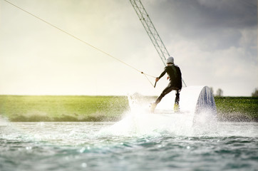 Wakeboarder on Opsticle