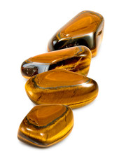 Isolated image of many tiger eye stone