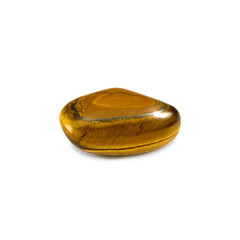 Isolated image of a beautiful tiger eye stone