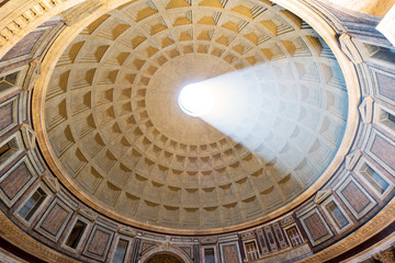 The famous light ray in Rome Pantheon
