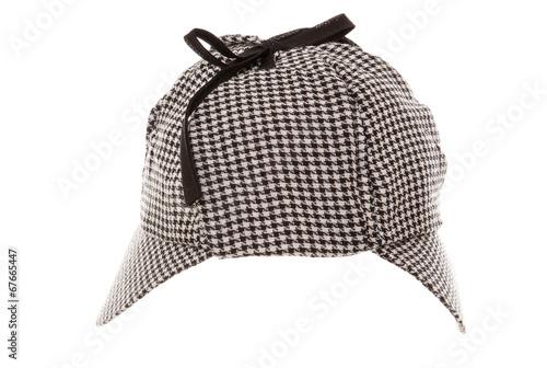 Poster tweed deerstalker hat