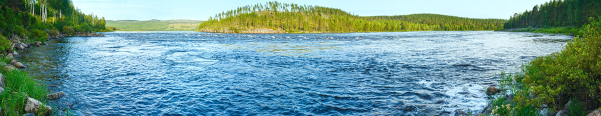 Summer river panorama (Sweden)