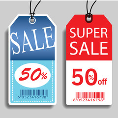 Sale labels, Vector.