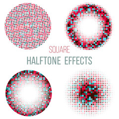 colorful halftone circles