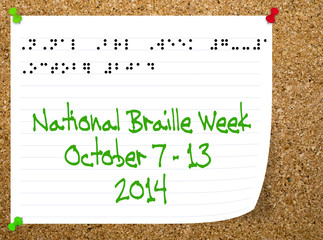 National Braillle week - October 2014. Help for the blind, parti