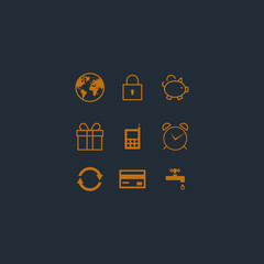 Vector design icons set