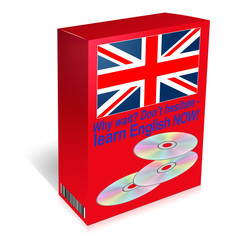 Learn English language course - CDs in box