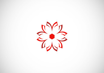 abstract flower circle logo