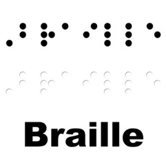 Braille translated into Braille (UK, US)