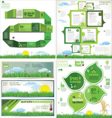 Ecology modern design, collection