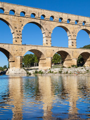 Pont du Gard reflected