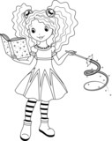 Fototapety witch coloring page