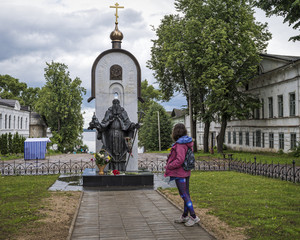 The monument to St. Macarius.