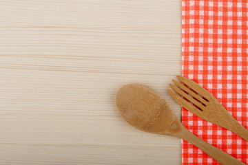 wooden fork, spoon