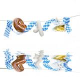 Oktoberfest, Volksfest, fair, auf weiss, mit flood