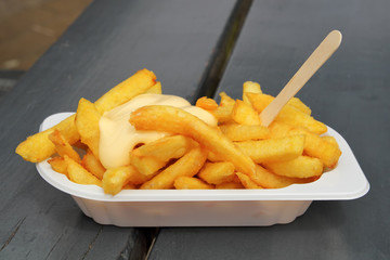 French fries with mayonaise.