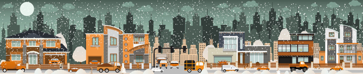 City life (Winter)