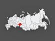 ������, ������: Map of the Russian Federation Tyumen region