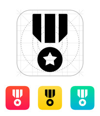 Military medal icon.