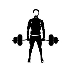 man lifts weights vector illustration