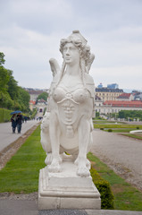 Sculpture in Belvedere gardens, Vienna