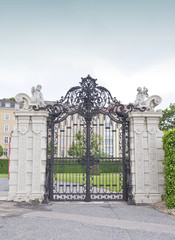 Ornamented gate in Belvedere gardens, Vienna