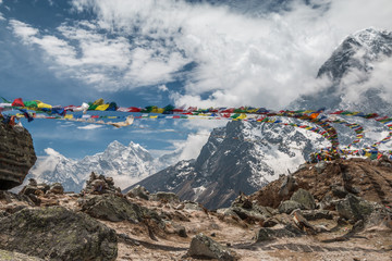 Prayer Flags in Himalayas Nepal