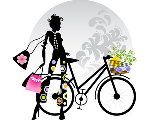 Flowers shopping bike