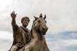 Leinwanddruck Bild - statue of Marcus Aurelius, Campidoglio, Rome, Italy