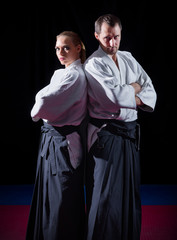 Two aikido fighters