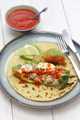 chile relleno(stuffed chili)tacos, mexican cuisine