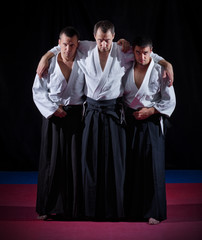 Three aikido fighters