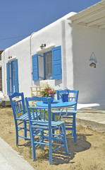 mykonos tables chairs blue