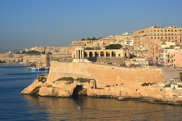 Harbour entrance La Valletta Malta,Mediterranean Sea, Europe